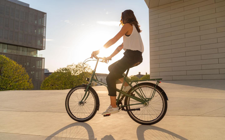 vélo de ville position droite hollandais Jean Fourche