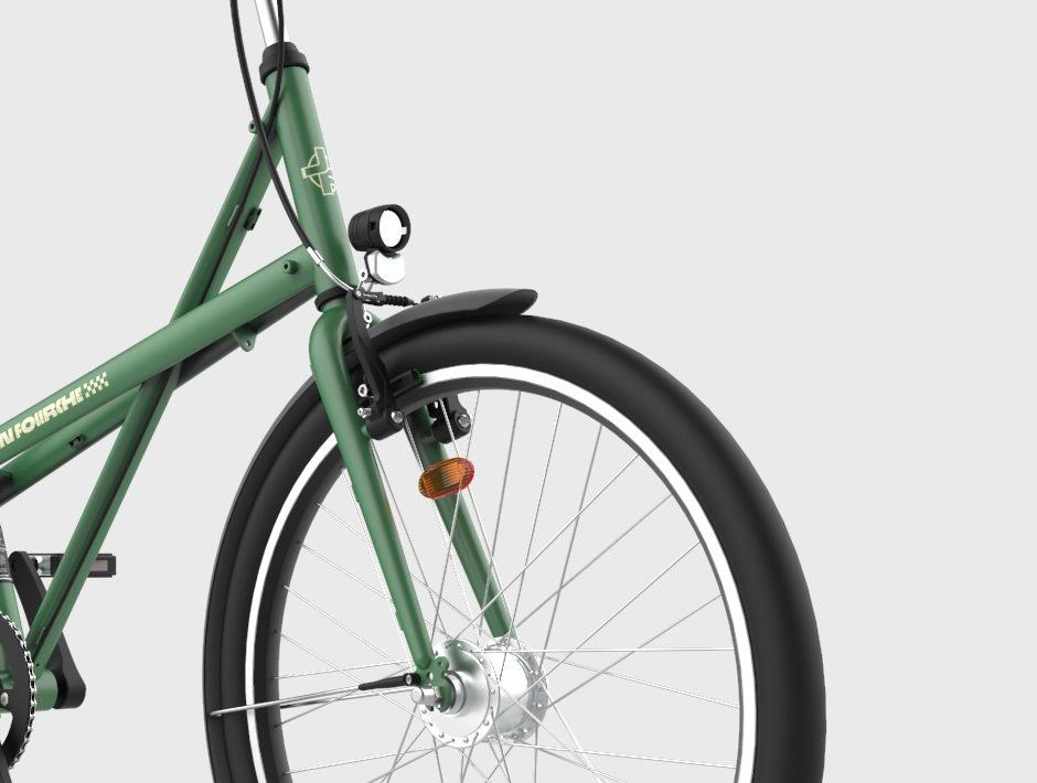 Éclairage vélo de ville dynamo jean fourche